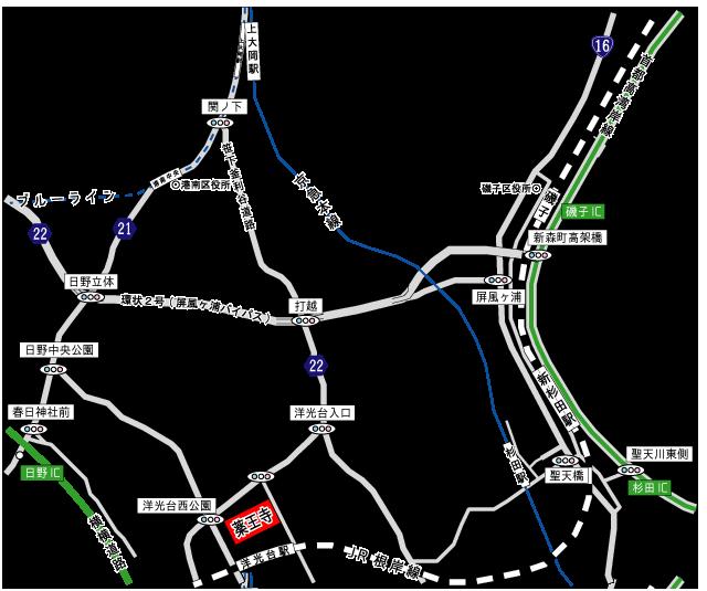 薬王寺会館アクセス地図